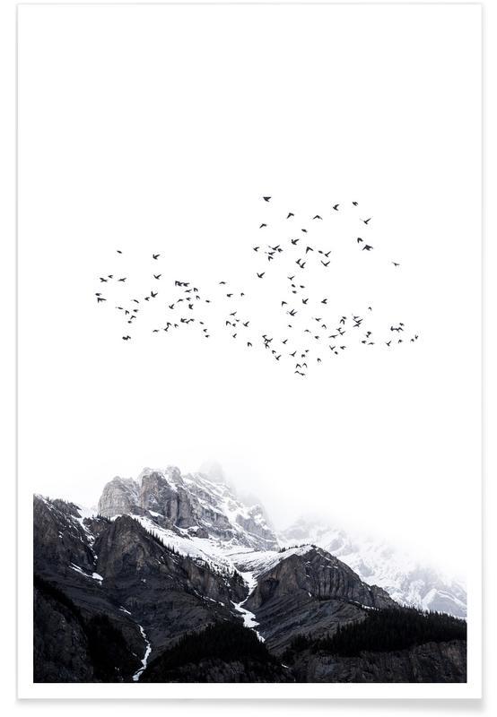 Noir & blanc, Montagnes, The Mountains affiche