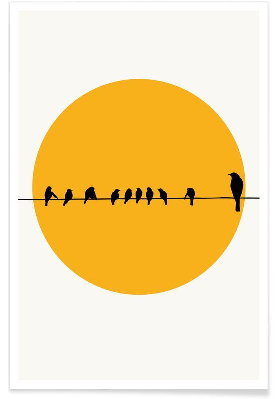 Sonnenuntergänge, Bird Family -Poster