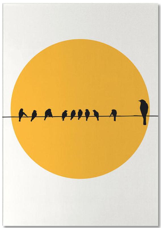 Sonnenuntergänge, Bird Family -Notizblock