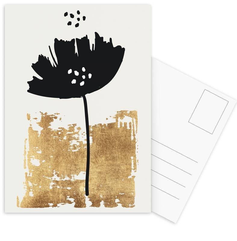 Black Poppy -Postkartenset