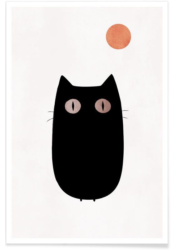 Chats, Art pour enfants, Meow affiche