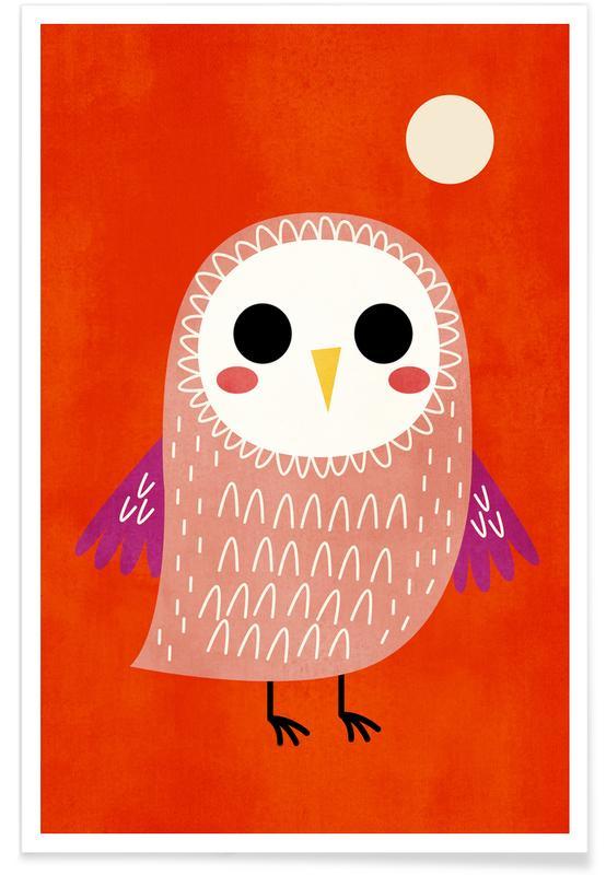 Uilen, Kunst voor kinderen, Sweet Dreams poster
