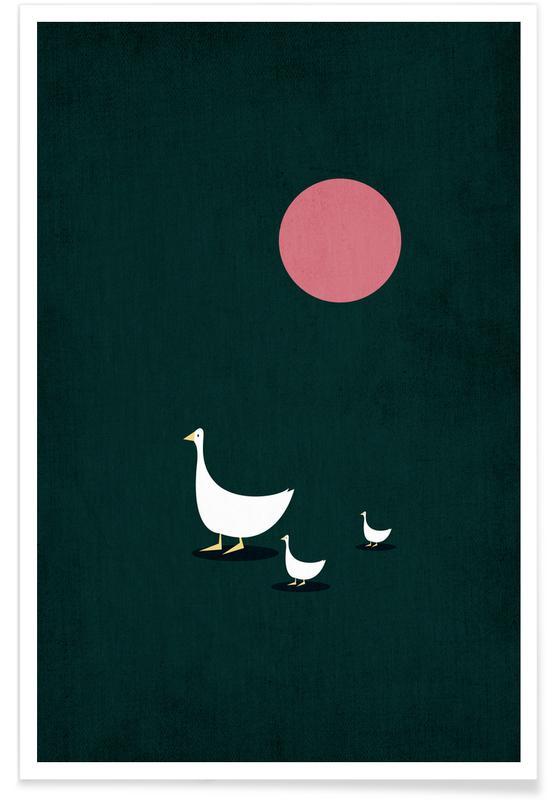 Kunst voor kinderen, Eenden, Walking on Sunshine poster