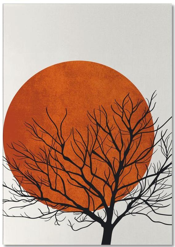 Bäume, Sonnenuntergänge, Winter Sunset -Notizblock