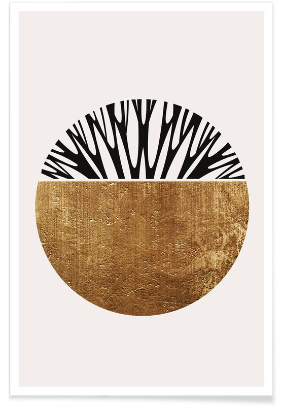 , Abstractika Gold poster