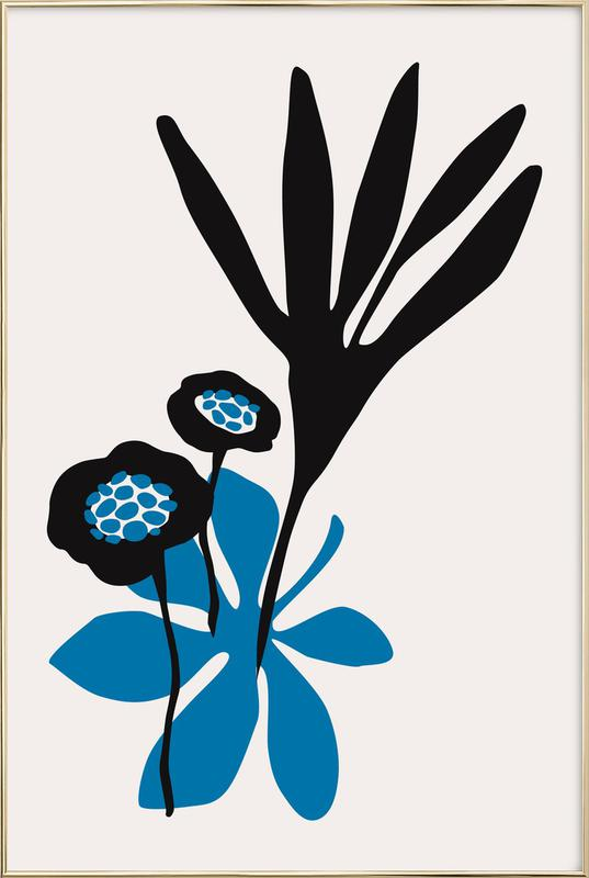 Blossom Beauty Bleu affiche sous cadre en aluminium