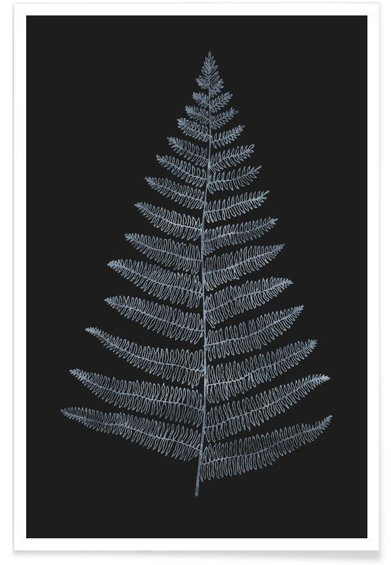 Zwart en wit, Bladeren en planten, Botanica Minimalistica No.2 poster