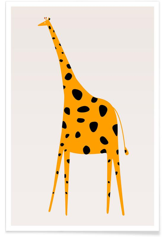 Art pour enfants, Girafes, Cute Griraffe affiche