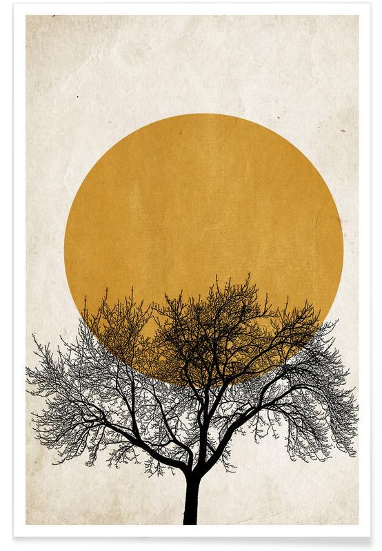 Arbres, Wintermorgen affiche