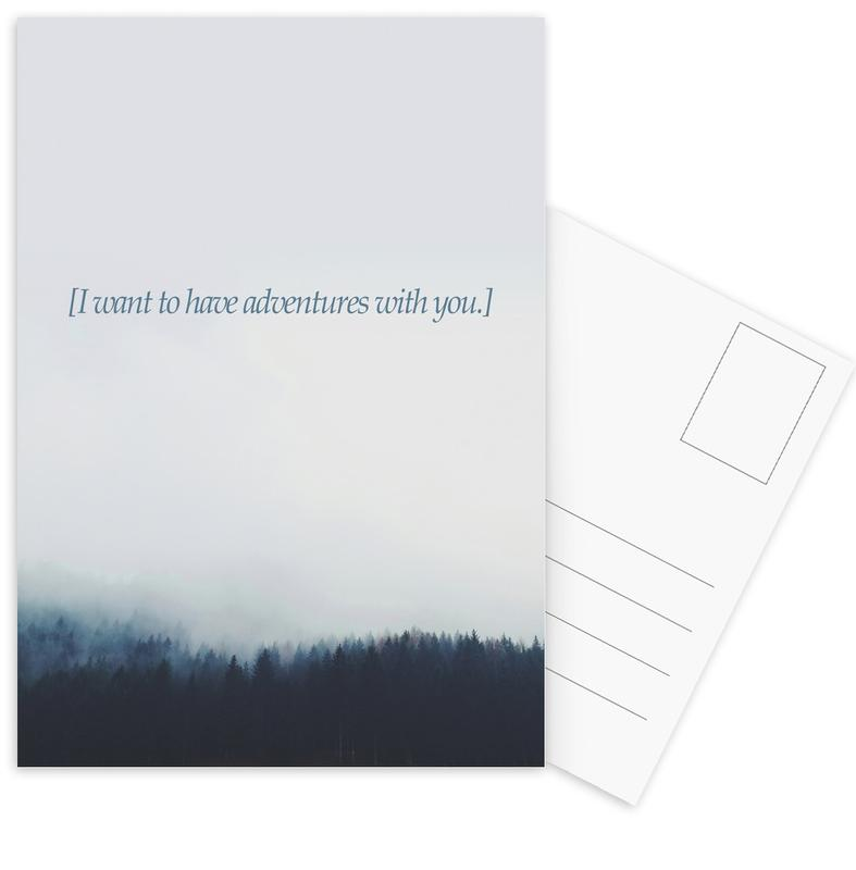 Adventures With You Postcard Set