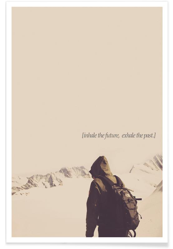 Motivatie, Quotes en slogans, Bergen, Future And Past poster
