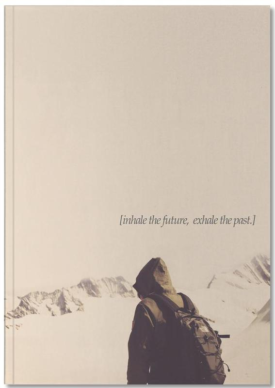Zitate & Slogans, Berge, Motivation, Future And Past Notebook