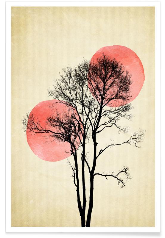 Bomen, Moon And Sun Hiding poster