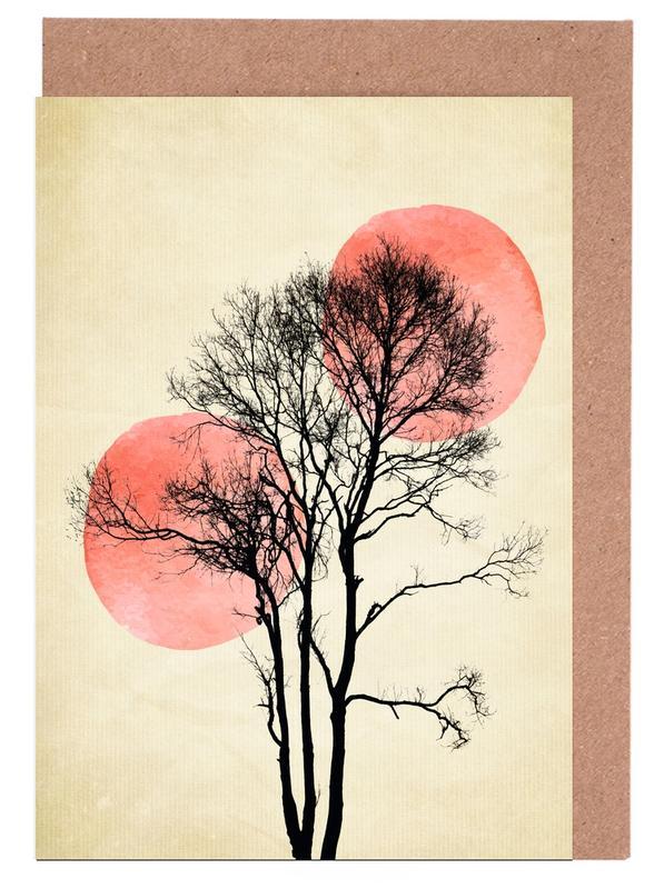 Moon And Sun Hiding -Grußkarten-Set
