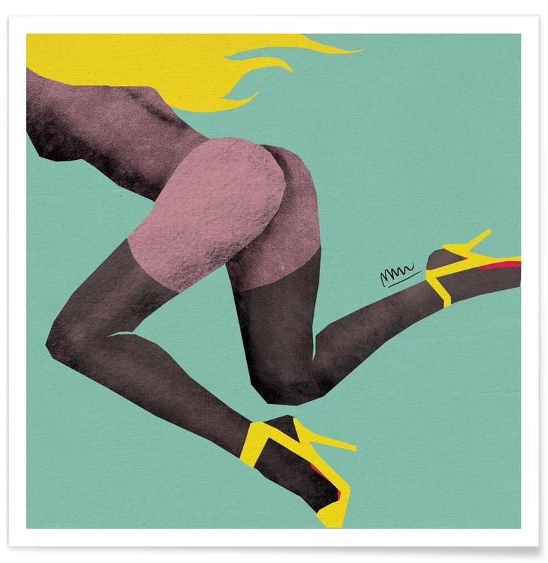 yellow run poster