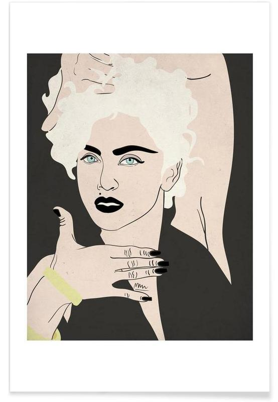 MADONNA PRINT Choose Size /& Media Type B Canvas or Poster