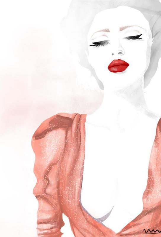 red lips Aluminium Print