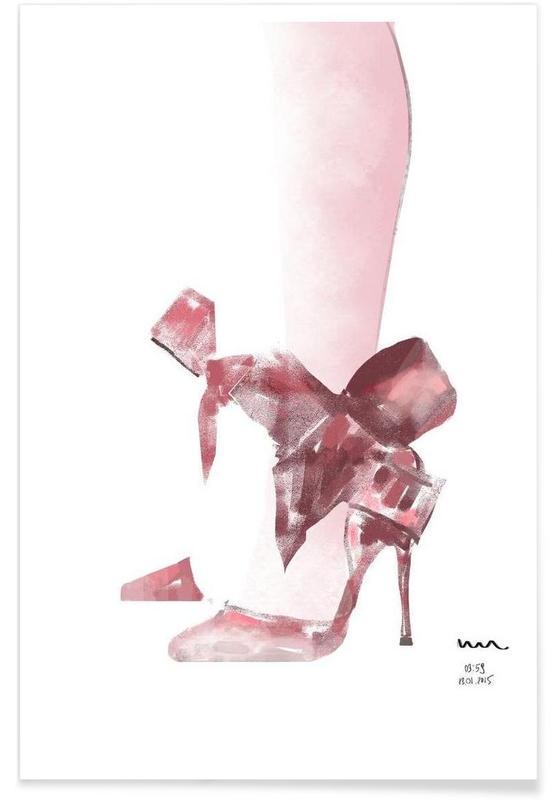 Illustrations de mode, shoe affiche