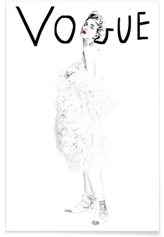 Zwart en wit, Mode-illustratie, vogue poster
