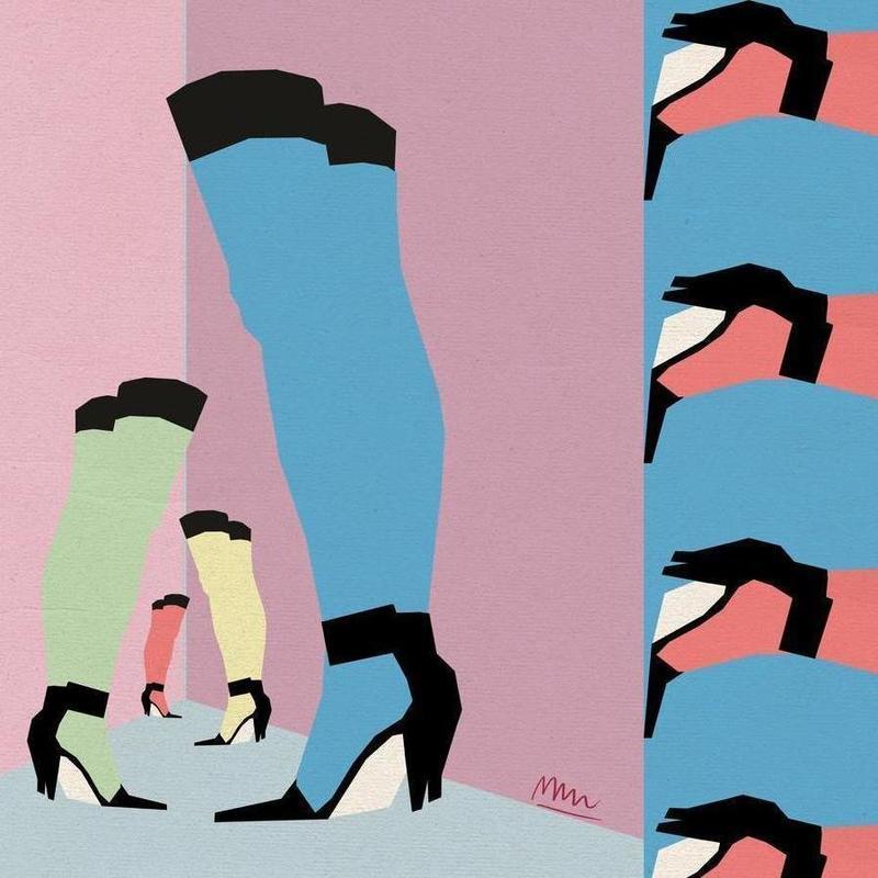 heels canvas doek