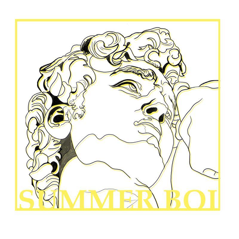 Summer Boi Aluminium Print