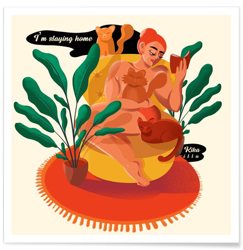 Motivational, Nude, Cats, Quarantaine Poster