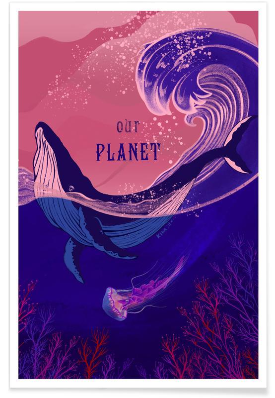 Baleines, Motivation, Our Planet affiche