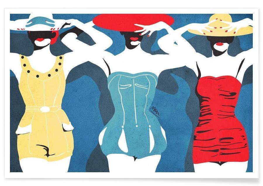 Mode-illustratie, Retro, summer poster