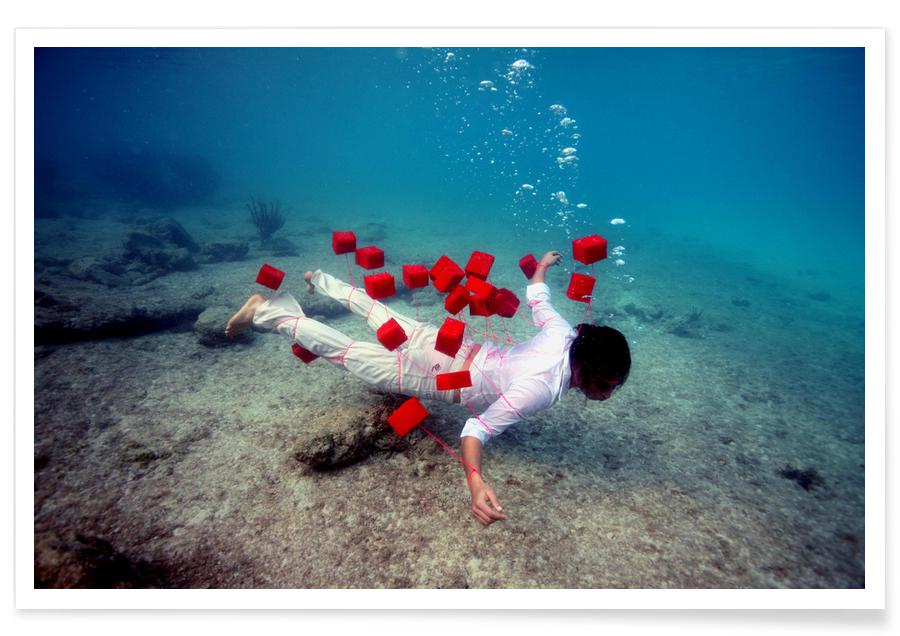 Oceanen, zeeën en meren, Red Squares poster