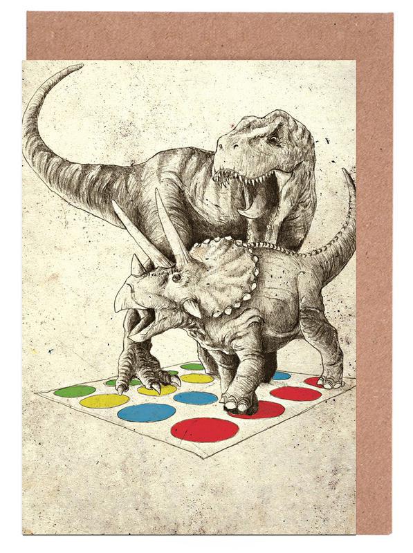 Dinosaurier, The Ultimate Battle -Grußkarten-Set