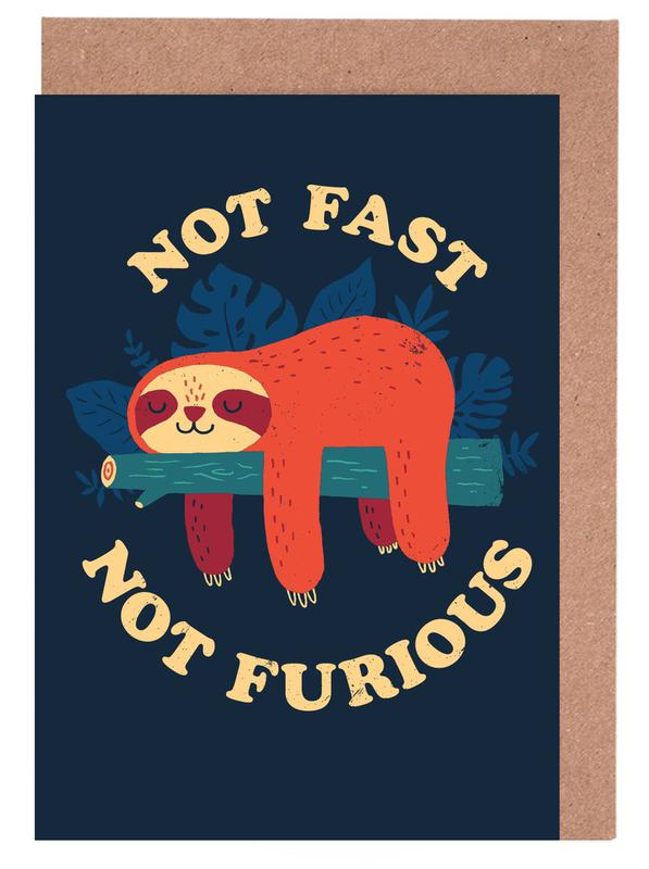 Not Fast, Not Furious Greeting Card Set