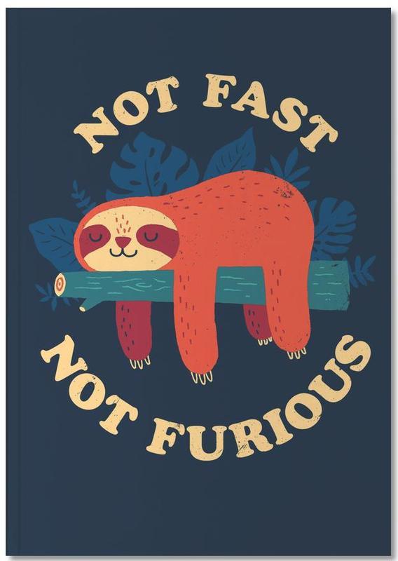 Grappig, Kunst voor kinderen, Luiaards, Not Fast, Not Furious Notebook