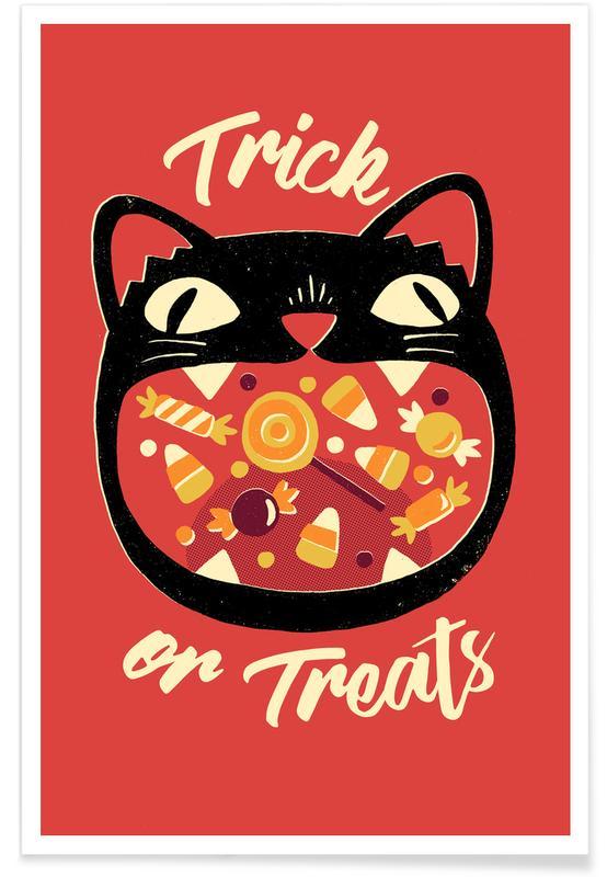 Katzen, Lustig, Cat Treats -Poster