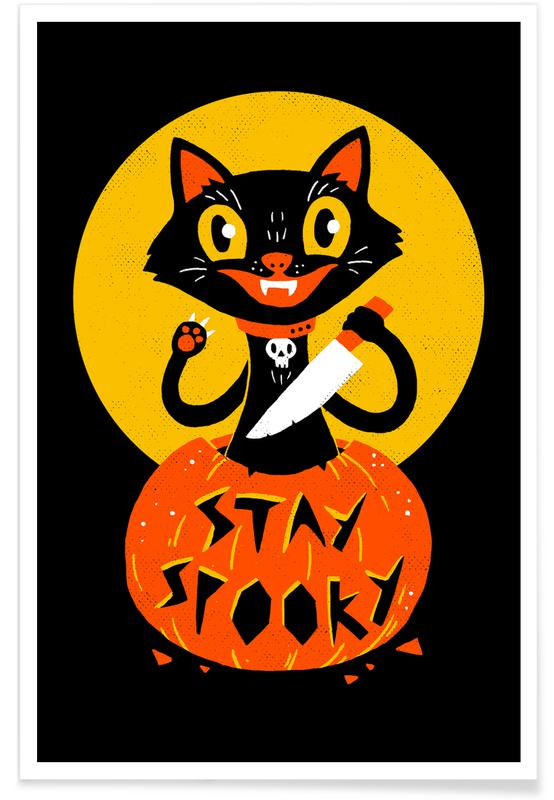 Humour, Chats, Stay Spooky affiche