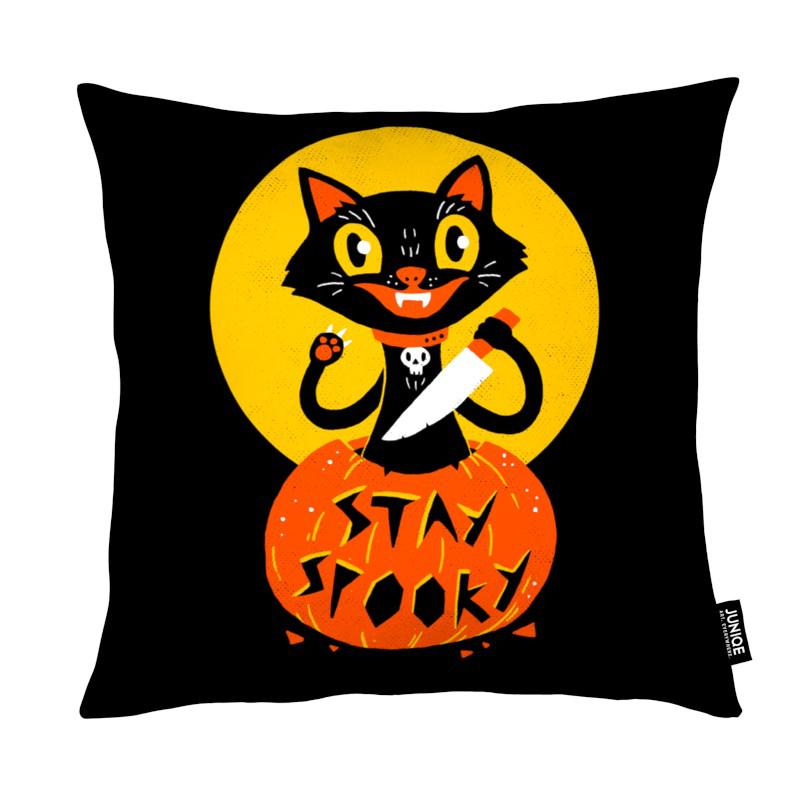 Chats, Humour, Stay Spooky coussin