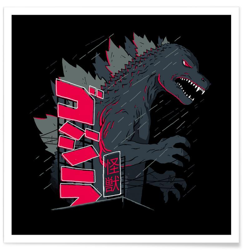 Dinosaurussen, Night Kaiju poster