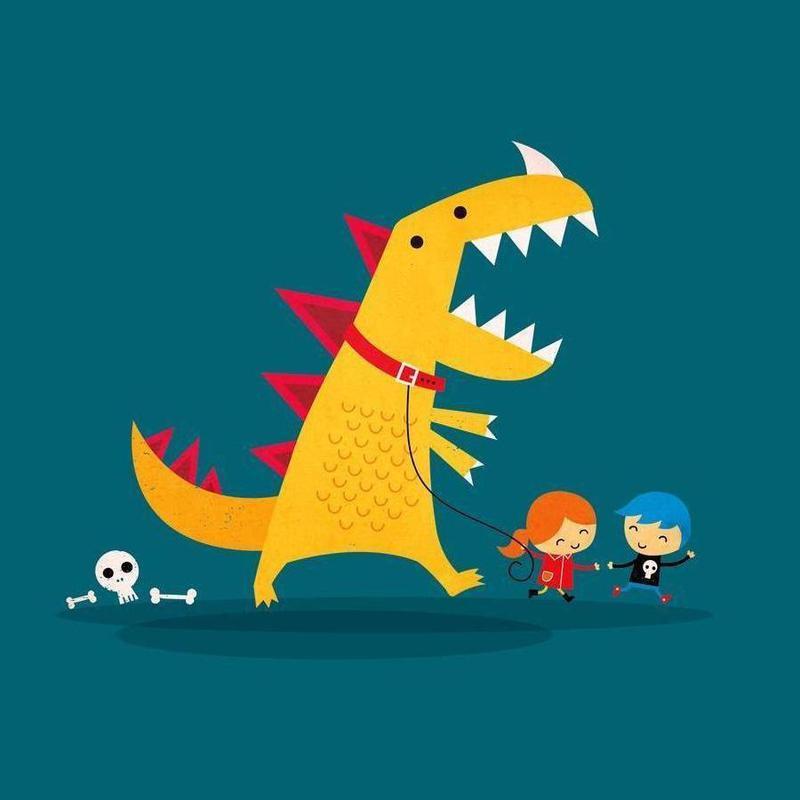 Dino Walk toile