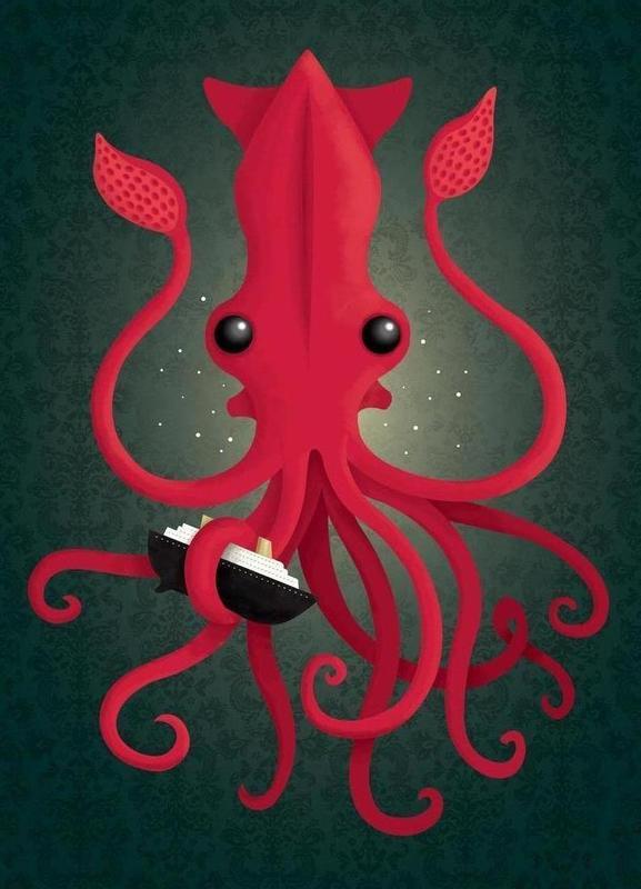 Kraken Attacken Canvas Print