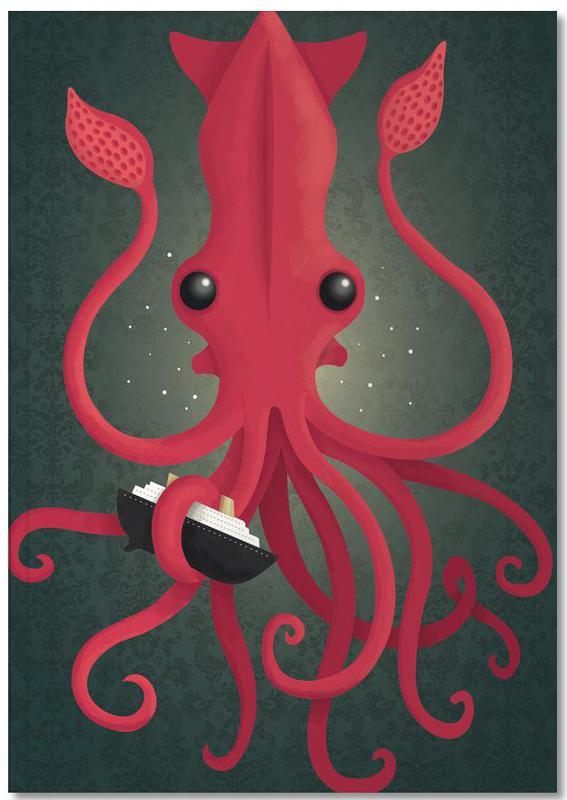 Kunst voor kinderen, Octopussen, Kraken Attacken Notebook