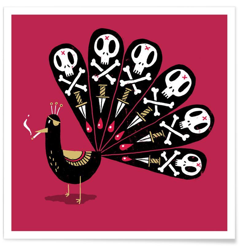 Påfugle, Dark Peacock Plakat
