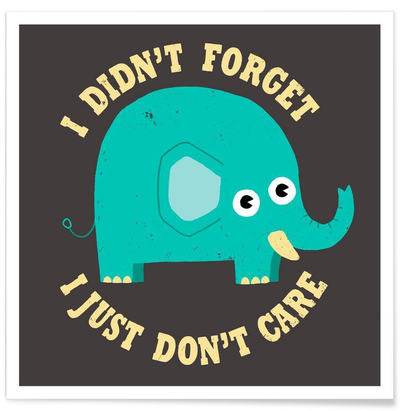 Éléphants, An Elephant Never Cares affiche