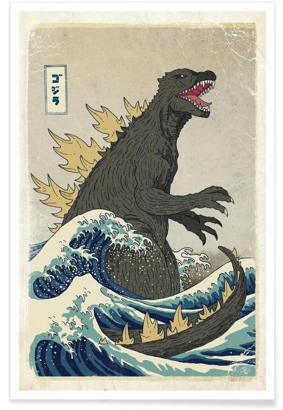 , The Great Godzilla off Kanagawa affiche