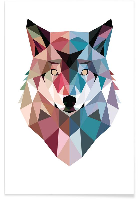 Wolves, Geo Wolf Poster