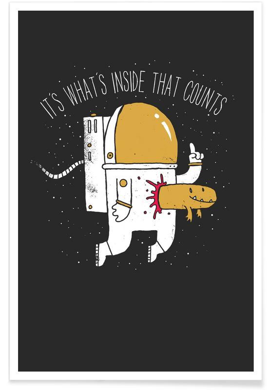 Astronauten, Zitate & Slogans, Space Sucks -Poster