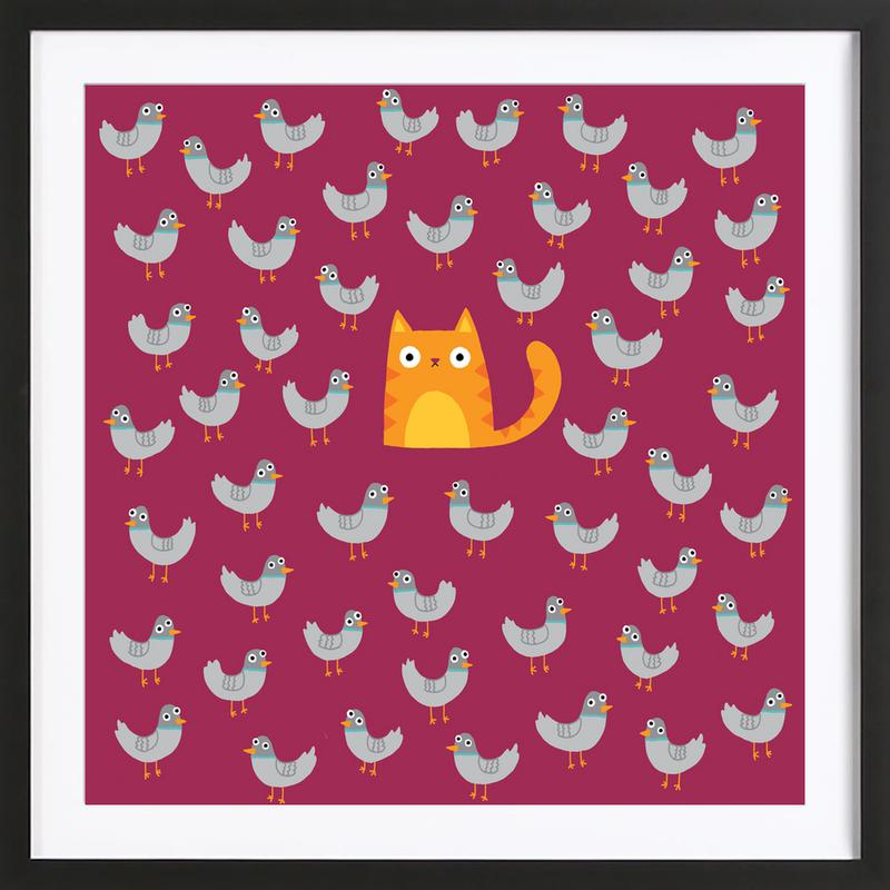 Cat Among the Pigeons ingelijste print