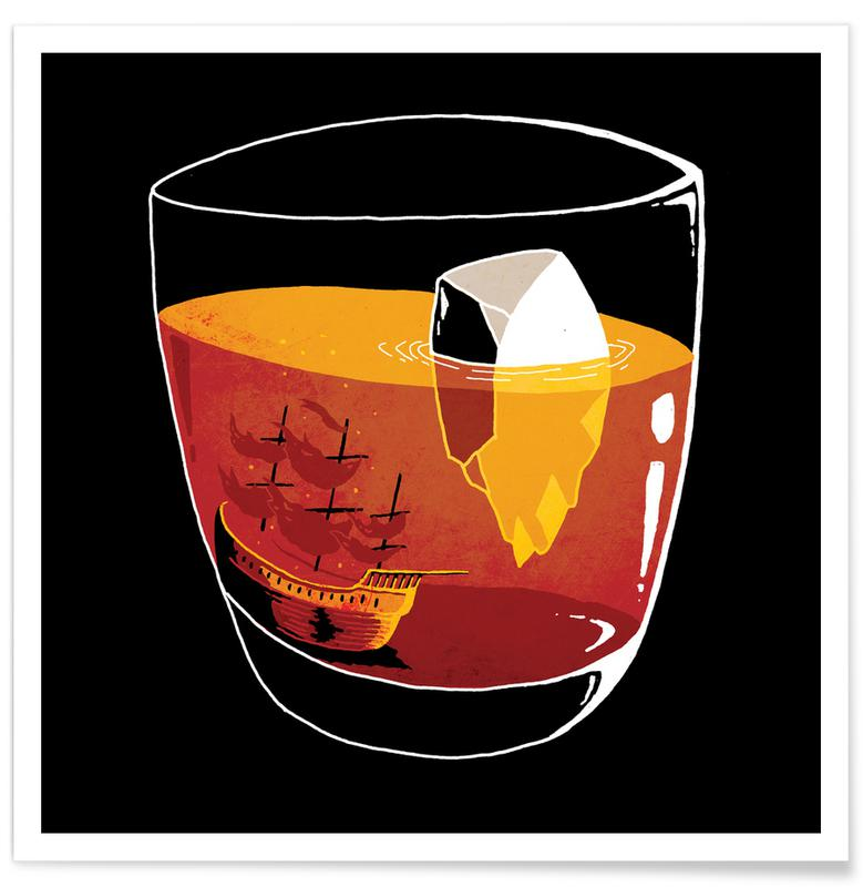 Cocktails, Whisky, On the Rocks affiche