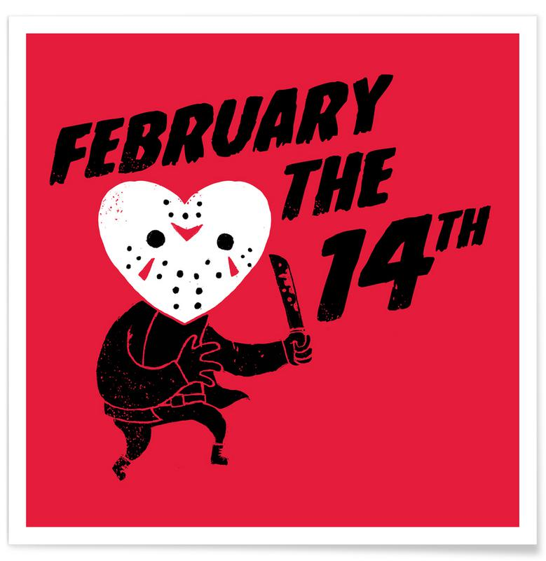 Lustig, Valentinstag, February the 14th -Poster