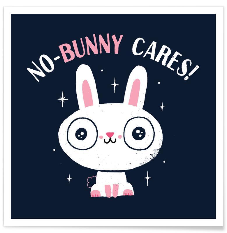 Kunst voor kinderen, Konijnen, No-Bunny Cares poster