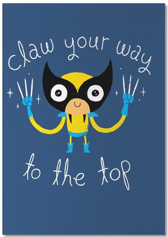 Motivation, Art pour enfants, Claw Your Way to the Top bloc-notes