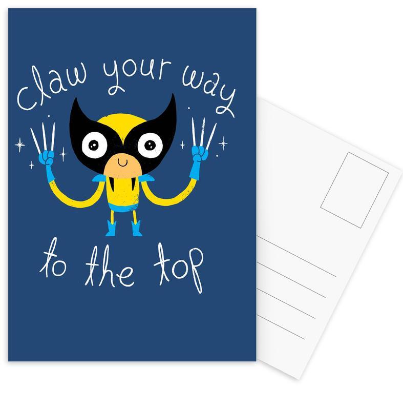 Motivatie, Kunst voor kinderen, Claw Your Way to the Top ansichtkaartenset